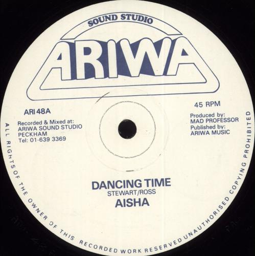 "Aisha Dancing Time 12"" vinyl single (12 inch record / Maxi-single) UK Q7S12DA709210"