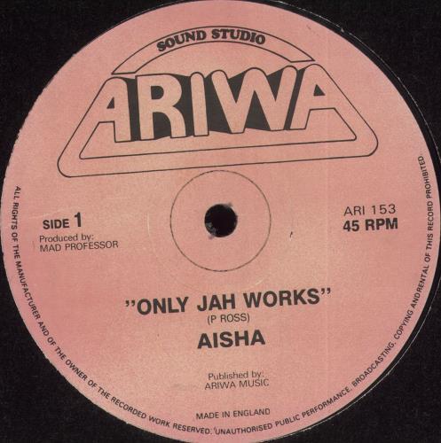 "Aisha Only Jah Works 12"" vinyl single (12 inch record / Maxi-single) UK Q7S12ON710337"