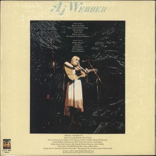 AJ Webber Rhyme And Time vinyl LP album (LP record) UK AQWLPRH607741