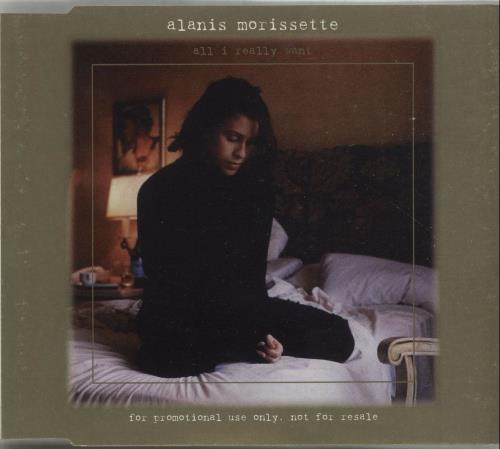 """Alanis Morissette All I Really Want CD single (CD5 / 5"""") UK ANSC5AL75381"""