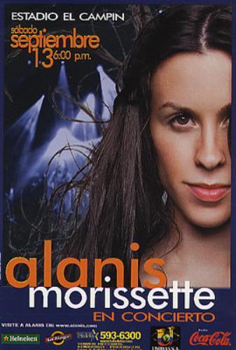 Alanis Morissette Estadio El Campin handbill Colombian ANSHBES347769