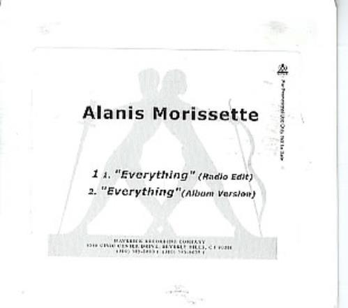 Alanis Morissette Everything CD-R acetate US ANSCREV292897