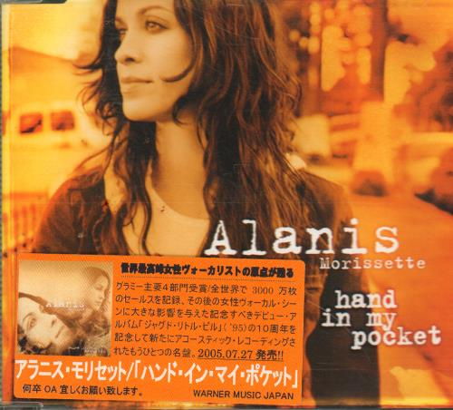 """Alanis Morissette Hand In My Pocket - Japanese Stickered Case CD single (CD5 / 5"""") Japanese ANSC5HA335276"""