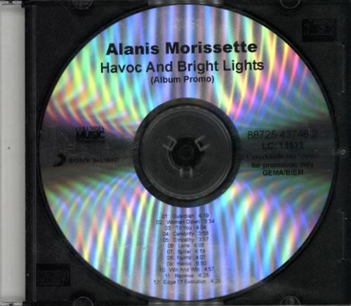 Alanis Morissette Havoc And Bright Lights CD-R acetate UK ANSCRHA607610