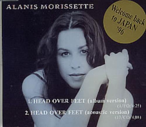 """Alanis Morissette Head Over Feet CD single (CD5 / 5"""") Japanese ANSC5HE99118"""