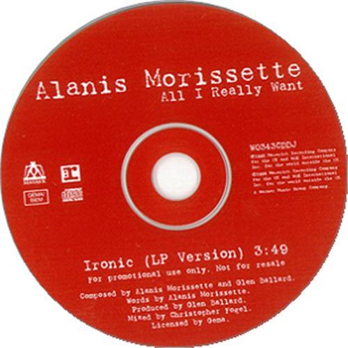 """Alanis Morissette Ironic CD single (CD5 / 5"""") UK ANSC5IR113661"""
