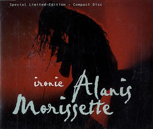 """Alanis Morissette Ironic CD single (CD5 / 5"""") Australian ANSC5IR607530"""