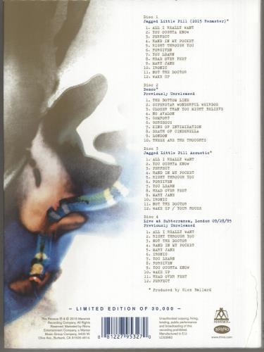 Alanis Morissette Jagged Little Pill - Deluxe Edition 4-CD album set UK ANS4CJA734871