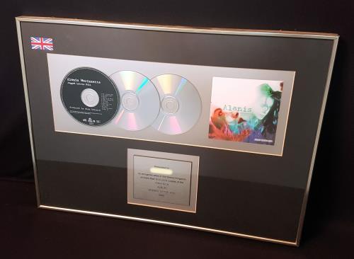 Alanis Morissette Jagged Little Pill award disc UK ANSAWJA701087