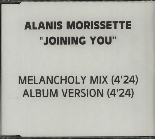 Alanis Morissette Joining You CD-R acetate UK ANSCRJO137558