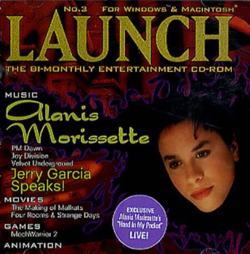 Alanis Morissette Launch - C.D.Rom CD album (CDLP) US ANSCDLA57393