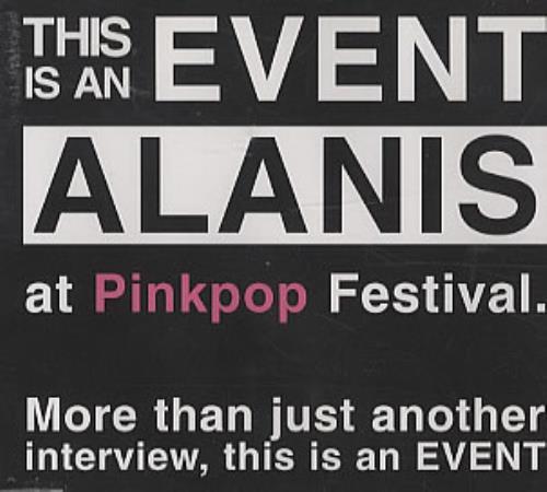 Alanis Morissette Pinkpop Interview CD album (CDLP) Dutch ANSCDPI319414