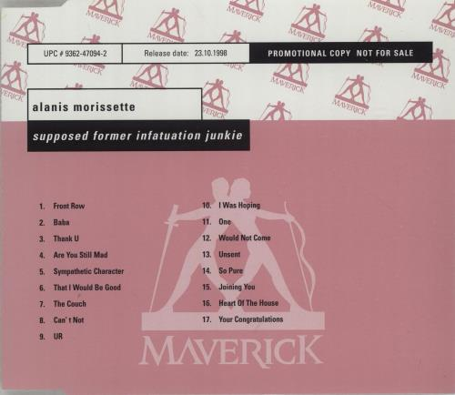 Alanis Morissette Supposed Former Infatuation Junkie CD album (CDLP) German ANSCDSU126378