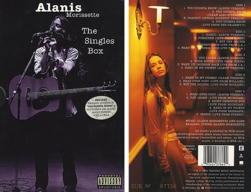 Alanis Morissette The Singles Box CD Single Box Set Australian ANSCXTH390096