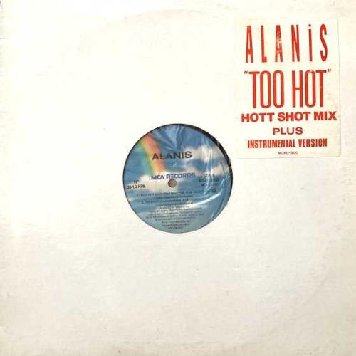 """Alanis Morissette Too Hot 12"""" vinyl single (12 inch record / Maxi-single) Canadian ANS12TO94440"""