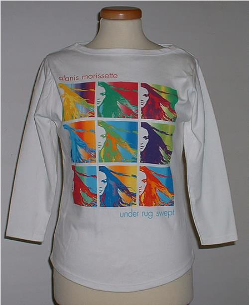 Alanis Morissette Under Rug Swept M Uk Promo T Shirt 209033