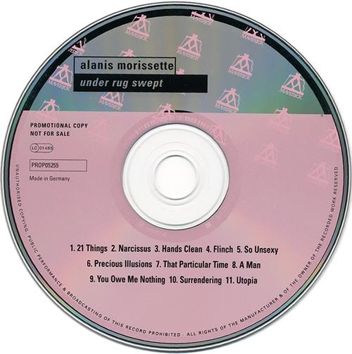 Alanis Morissette Under Rug Swept CD album (CDLP) German ANSCDUN208909