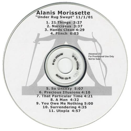 Alanis Morissette Under Rug Swept Us Promo Cd R Acetate