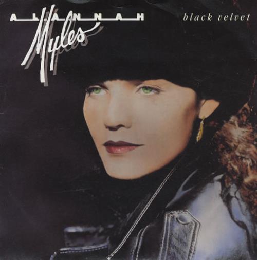 "Alannah Myles Black Velvet 7"" vinyl single (7 inch record) UK ALN07BL282411"