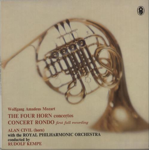 Alan Civil Mozart: The Four Horn Concertos / Concert Rondo (First Full Recording) vinyl LP album (LP record) UK ERDLPMO680937