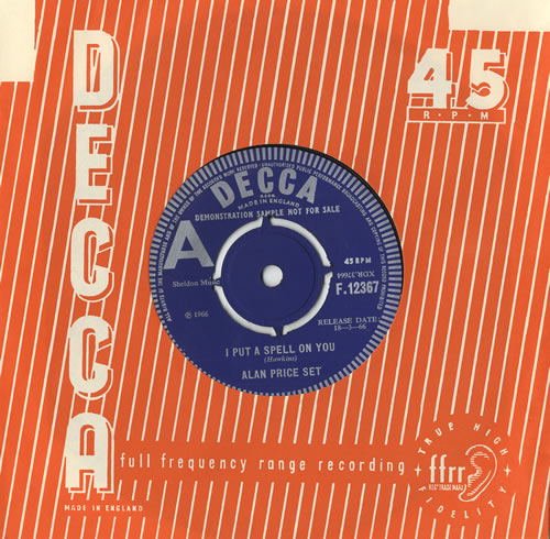 """Alan Price I Put A Spell On You - A Label 7"""" vinyl single (7 inch record) UK A-P07IP468943"""