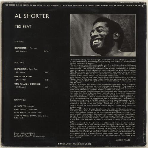 Alan Shorter Tes Estat vinyl LP album (LP record) French Q2LLPTE705980