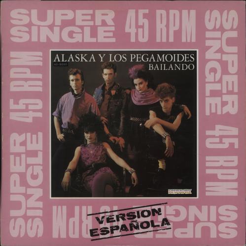 """Alaska Y Los Pegamoides Bailando 12"""" vinyl single (12 inch record / Maxi-single) Spanish AYM12BA677217"""