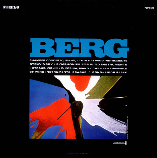 Alban Berg Chamber Concerto for Piano, Violin and 13 Wind Instruments vinyl LP album (LP record) US A5ZLPCH527604