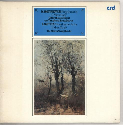 Alberni String Quartet Shostakovich: Piano Quintet in G Minor, Op.57 / Britten: String Quartet No. 1 in D Major, Op.25 vinyl LP album (LP record) UK 0XDLPSH737437