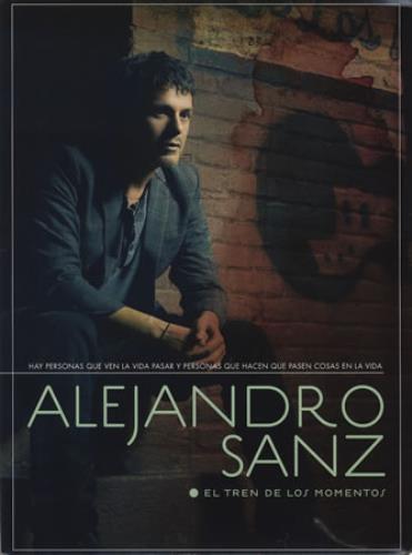 Alejandro Sanz El Tren De Los Momentos media press pack Spanish AJDPPEL382551