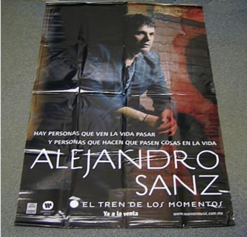 Alejandro Sanz El Tren De Los Momentos display Mexican AJDDIEL386237