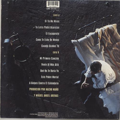 Alejandro Sanz Si Tú Me Miras vinyl LP album (LP record) Spanish AJDLPSI690465