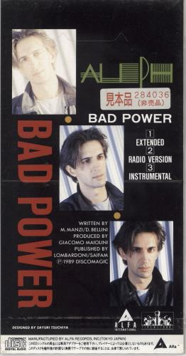 "Aleph Bad Power 3"" CD single (CD3) Japanese ZTQC3BA720316"
