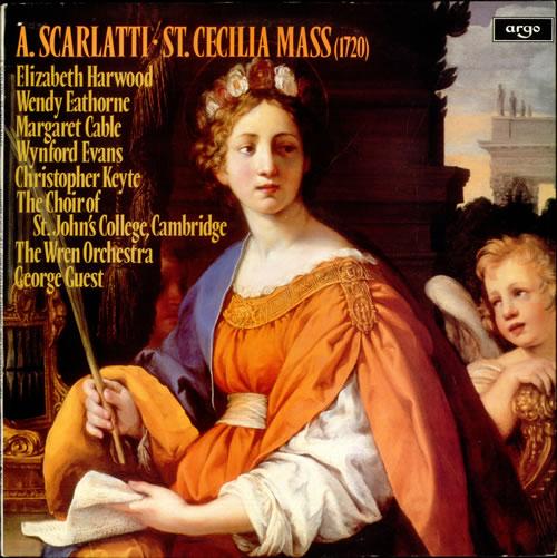 Alessandro Scarlatti St. Cecilia Mass vinyl LP album (LP record) UK A3ELPST532682