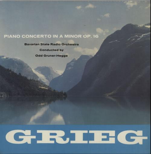 Alexander Jenner Grieg: Piano Concerto In A Major, Op 16 UK vinyl LP album  (LP record)