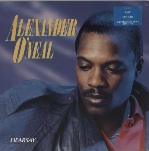 Alexander O'Neal Hearsay - Blue Hype Stickered vinyl LP album (LP record) Dutch ALOLPHE756339