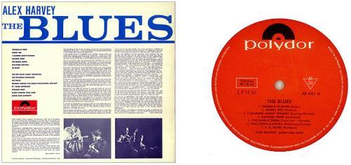 Alex Harvey (UK) The Blues vinyl LP album (LP record) German AXHLPTH449566