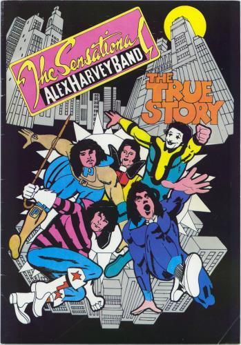 Alex Harvey (UK) The True Story + Banger tour programme UK AXHTRTH751597