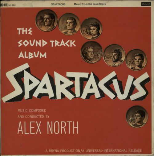 Alex North Spartacus - VG vinyl LP album (LP record) UK A8FLPSP598395