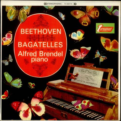 Alfred Brendel Beethoven: Bagatelles Op. 33, Op. 119 & Op. 126 vinyl LP album (LP record) US F6GLPBE538904