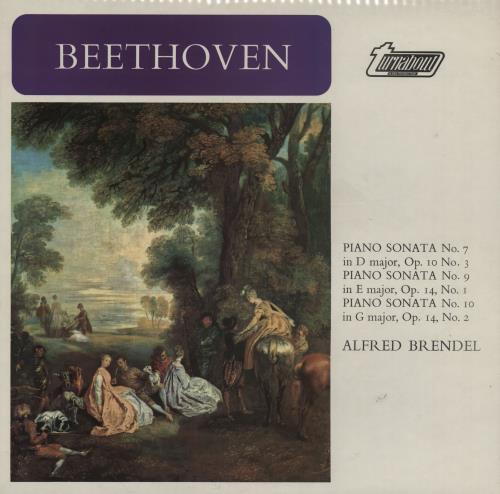 Alfred Brendel Beethoven: Piano Sonatas No. 7, 9, & 10 vinyl LP album (LP record) UK F6GLPBE760082