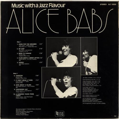 Alice Babs Music With A Jazz Flavour vinyl LP album (LP record) Swedish A8ZLPMU699533