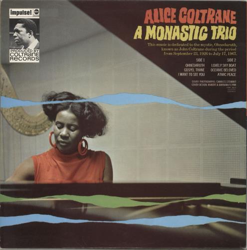 Alice Coltrane A Monastic Trio vinyl LP album (LP record) UK 2ACLPAM703489