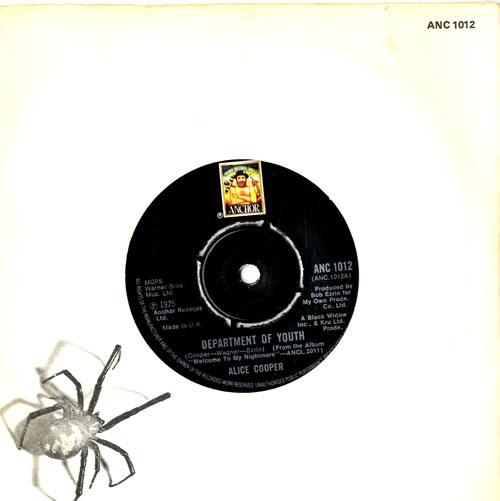 "Alice Cooper Department Of Youth - die-cut p/s 7"" vinyl single (7 inch record) UK COO07DE597651"