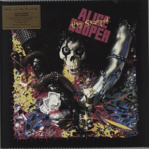 Alice Cooper Hey Stoopid - 180gram Silver Vinyl + Sealed vinyl LP album (LP record) UK COOLPHE677721