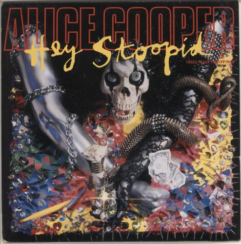 "Alice Cooper Hey Stoopid 12"" vinyl single (12 inch record / Maxi-single) UK COO12HE19973"