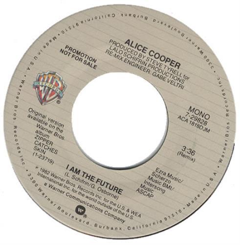 """Alice Cooper I Am The Future 7"""" vinyl single (7 inch record) US COO07IA391197"""