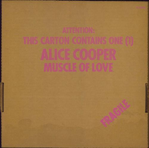 Alice Cooper Muscle Of Love - Cardboard Box - VG vinyl LP album (LP record) UK COOLPMU774784