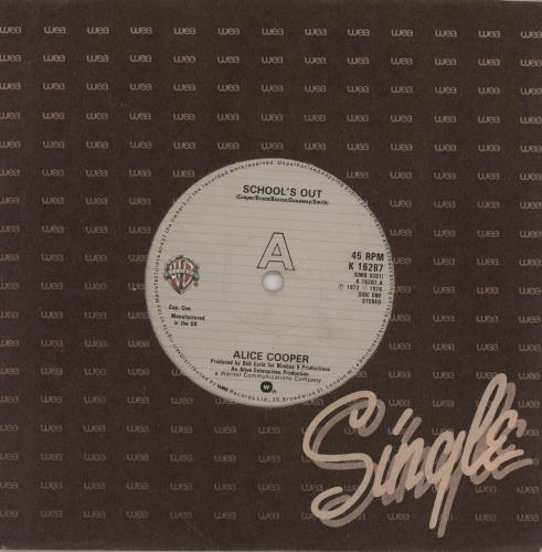 """Alice Cooper School's Out - 1980 Issue 7"""" vinyl single (7 inch record) UK COO07SC755558"""