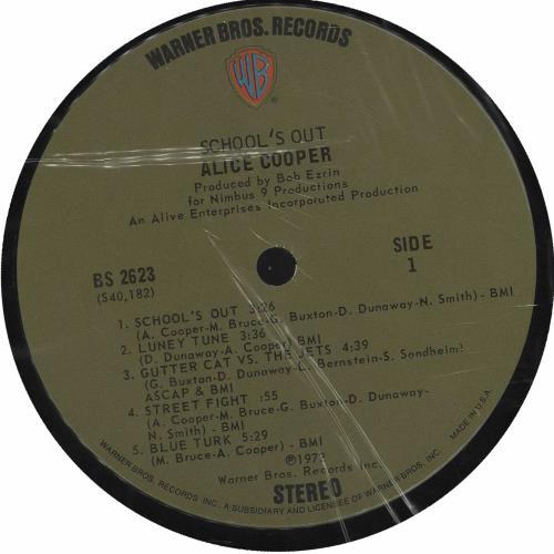 Alice Cooper School's Out - Desk Sleeve + Blue Panties vinyl LP album (LP record) US COOLPSC685099